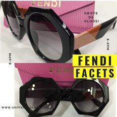 9298dfb1c Marca: Fendi Gênero: Feminino Estilo do óculos: Redondo Material da  armação: Acetato