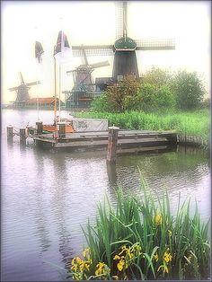 Kinderdijk in the Mist, the Netherlands ~ UNESCO World Heritage Site