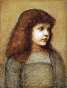 Portrait Of Gertie Lewis Giclee Print Poster by Sir Edward Burne-Jones Online On Sale at Wall Art Store – Posters-Print.com