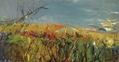 Joan Kathleen Harding Eardley Landscape, Catterline (n.), oil on board, 124 x 66 cm. Contemporary Landscape, Abstract Landscape, Landscape Paintings, Abstract Paintings, Oil Paintings, Gallery Of Modern Art, Glasgow School Of Art, Realistic Paintings, Sense Of Place