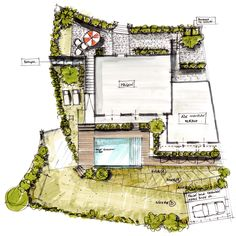 Plan Masse Architecture Esquisse Dessin Croquis Architecture, Architecture Design, Floor Plans, Sketching, Drawing Drawing, Architecture Layout, Floor Plan Drawing, Architecture, House Floor Plans