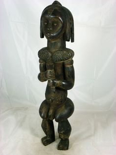 Superb African Tribal Art FANG BIERI Guardian Reliquary Figure Collectble