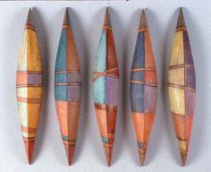 Lisa Halvorsen vessels (ceramic)  This photo is on her business card or one very similar to it...