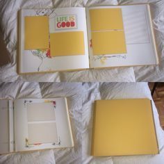 "All creative memories product used. I took the yellow coverset and placed the ""if your happy and you know it"" refill pages inside. #creativememories #scrapbooking #fast2fab"