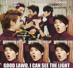 Woohyun's expression is priceless (≧∇≦)