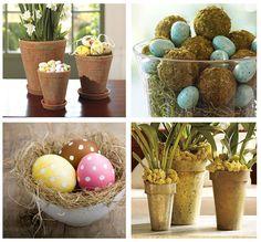 easter decor-love the polka dot eggs!