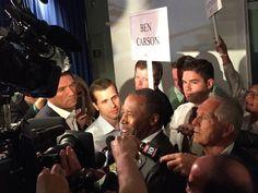 Ben Carsen responds to Jerry Brown on Climate Change. Ben Carson spin room (Joel Pollak / Breitbart News)