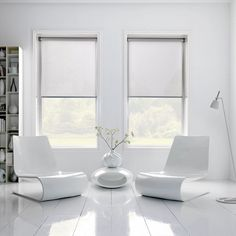Sheer roller Blinds in white living room | Simple and not noticed