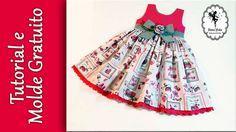 """Vestido """"Ananda"""" - 6 meses - Tutorial com molde gratuito"""