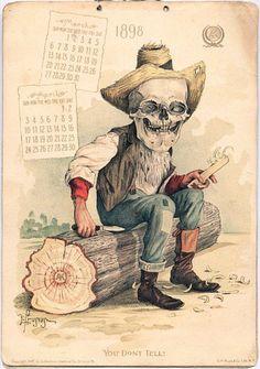Новогодние календари со скелетами от «Antikamnia» (1897-1901 гг.): philologist