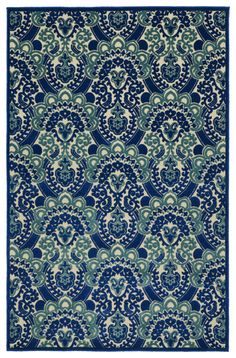 RugStudio presents Kaleen Five Seasons Fsr107-22 Navy Machine Woven, Good Quality Area Rug