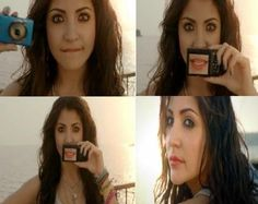 Anushka Sharma in Canon Adv inspired Brown- Black Smokey eyes @ http://www.stylecraze.com/blogs/anushka-sharma-canon-powershot-what-makes-us-click-makeup/