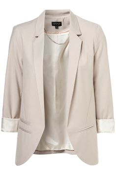 Top Shop Structured Blazer in Pale Grey