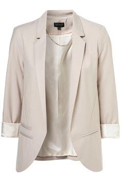 Top Shop Structured Blazer in Pale Grey