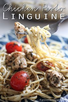 Delicious & easy this Chicken Pesto Linguine recipe is sure to be a hit!