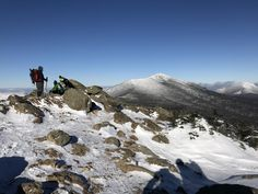 View from Mt Flume looking toward Mt Lafayette White Mountains NH. -15F at the summit!! Cold for sure but an awesome hike! #hiking #camping #outdoors #nature #travel #backpacking #adventure #marmot #outdoor #mountains #photography