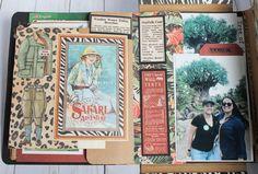 Disney Animal Kingdon File Folder using Graphic 45 Safari Adventure By Glenys Vidal - Craft Room Secrets Safari Adventure, Graphic 45, File Folder, Project Life, Animal Kingdom, Scrapbooking, Crafty, Disney, Room