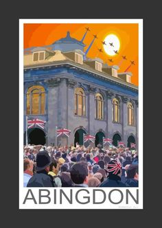 Abingdon town celebration (Art Print)