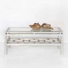 Worlds Away Pierre Silver Leafed Coffee Table - Designer Fabric Outlet