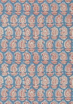 GADA PAISLEY, Red and Blue, AT78786, Collection Palampore from Anna French