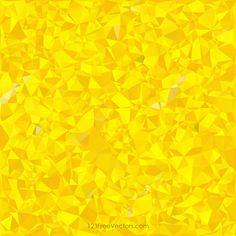 Polygonal Yellow Pattern Background Design