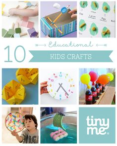10 Educational Kids Crafts ~ Tinyme. Free downloads, printables.