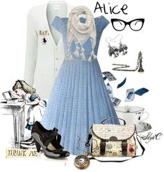"""Hipster Alice Outfit"" by rubytyra on Polyvore"