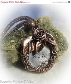On Sale Antiqued Copper Wire Wrapped Hand by superioragates