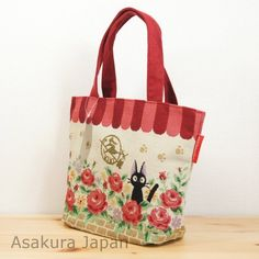 Kiki's Delivery Service Jiji Tapestry Tote bag Studio Ghibli From Japan