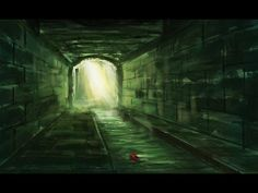 Digital painting progress with Photoshop - Sewer