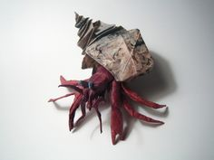 Masterful Origami Artist Brian Chan Previously Featured Here Designed And Created These Awesome Hermit Crabs Using Squares Of Laminated Unryu