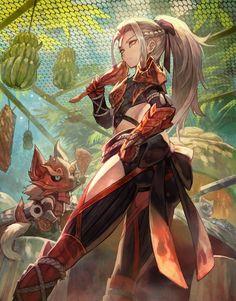 Female Odogaron Armor Fanart