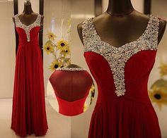 Long prom dress red prom dress home coming dress