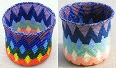 Carol Ventura - - Spectral Reversible Bead Tapestry Crochet Basket for left-handed crocheters Crochet Stitches Patterns, Weaving Patterns, Crochet Chart, Knit Crochet, Crochet Classes, Crochet Projects, Crochet Tutorials, Tapestry Crochet, Crochet Gifts