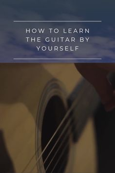 Learn guitar by yourself with this guide! I go over a few strategies that I used to learn guitar, and offer you the resources that helped me! Great Guitar Songs, Guitar Chords For Songs, Music Guitar, Playing Guitar, Acoustic Guitar, Learning Guitar, Guitar Chords Beginner, Guitar For Beginners, Music Lessons