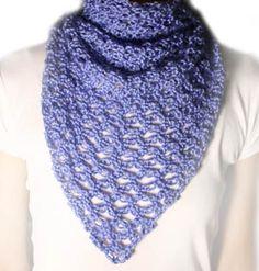 Crochet Spot » Blog Archive » Crochet Pattern: Lover's Knot Triangle Scarf - Crochet Patterns, Tutorials and News