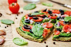 Pizza Low Carb com Massa de Brócolis