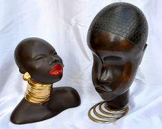 Some of my art deco collection, Hagenauer African fruitwood bust circa 1935 and Goldscheider Terracotta bust  circa 1955
