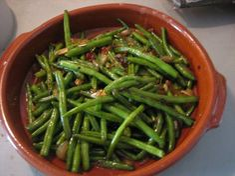 Indonesian Food. Sambal Goreng Boontjes  (Recipe in Dutch)