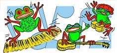 Rasta Frogs get happy with a different background.  ©Deborah Willard. #rastafrogs #happy