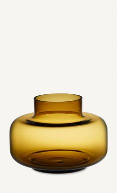 This yellow glass vase is mouth-blown and designed by Carina Seth-Andersson. Designer: Carina Seth-Andersson Material: glass Size: 21 x 30 cm Color: amber Luxe Decor, Boho Decor, Glass Installation, Marimekko, Decorating Tools, Amber Glass, Glass Design, Home Decor Items, Timeless Design