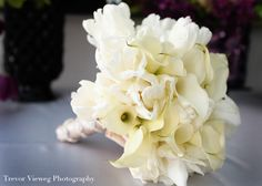 bukiet ślubny: kalla, tulipan