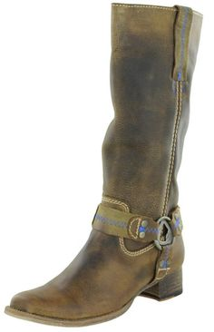 Womens Boots - Bed Stu Women's Opal Harness Leather Boots Riding