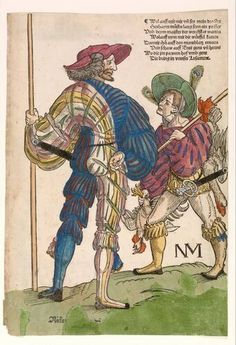 Erhard Schön - Landsknecht met hulpje - circa 1530 The landsknecht calls a young man to be his sidekick. He should not forget to take. Cards Mercenaries were notorious for their preference for gambling, booze and hookers.