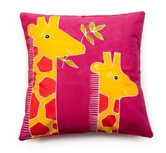 Image of Giraffe Safari Kids Cushion Cover