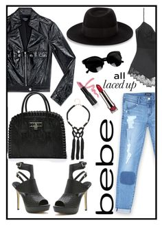 """All Laced Up for Spring with bebe: Contest Entry"" by kleinwillwin ❤ liked on Polyvore featuring Bebe, Maison Michel, LORAC, Diego Dalla Palma and alllacedup"