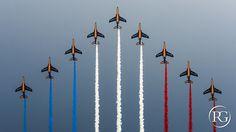 Patrouille de France , défilé aérien du 14 Juillet. PARIS | Flickr Air Show, Wind Turbine, Bordeaux, Paris, Fighter Jets, Aviation, Aircraft, Aquitaine, Instagram