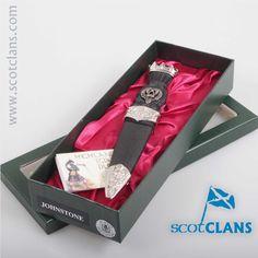 Johnstone Clan Crest Sgian Dubh. Free worldwide shipping available. Free worldwide shipping available