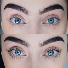 A before and after using the lengthening and thickening mascara from @herrstedtcosmetics ✨ #herrstedtcosmetics #crueltyfree
