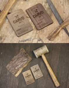 carvd - wooden business card